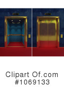 Royalty-Free (RF) Elevator Clipart Illustration #1069133