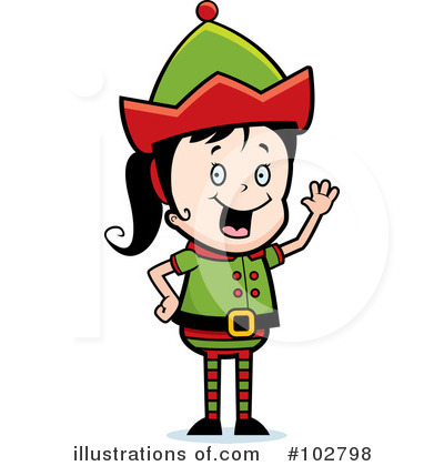 Elf Clipart #102798 by Cory Thoman