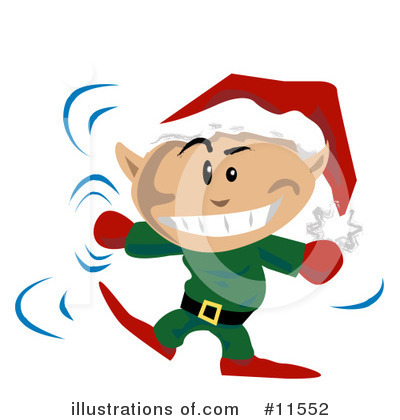 Christmas Elf Clipart #11552 by AtStockIllustration
