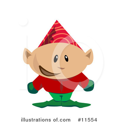 Christmas Elf Clipart #11554 by AtStockIllustration