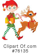 Royalty-Free (RF) Elf Clipart Illustration #76135