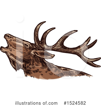 Deer Clipart #1524582 by Vector Tradition SM