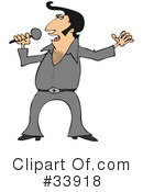 Royalty-Free (RF) Elvis Clipart Illustration #33918