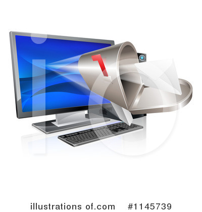 Desktop Computer Clipart #1145739 by AtStockIllustration