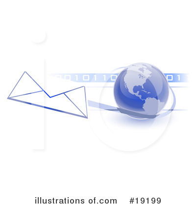 Royalty-Free (RF) Email Clipart Illustration by Leo Blanchette - Stock Sample #19199