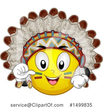 Native American Clipart #1499835 by BNP Design Studio