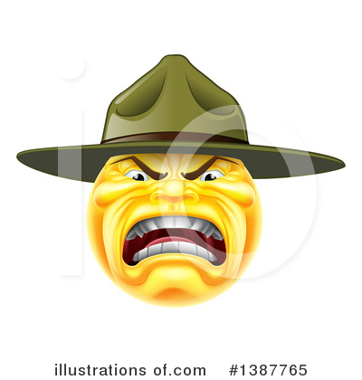 Drill Sergeant Clipart #1387765 by AtStockIllustration