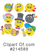 Royalty-Free (RF) Emoticons Clipart Illustration #214589