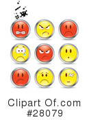 Royalty-Free (RF) Emoticons Clipart Illustration #28079