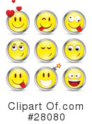 Royalty-Free (RF) Emoticons Clipart Illustration #28080
