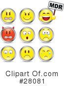 Royalty-Free (RF) Emoticons Clipart Illustration #28081