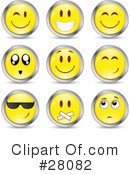 Royalty-Free (RF) Emoticons Clipart Illustration #28082