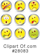 Royalty-Free (RF) Emoticons Clipart Illustration #28083