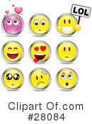 Royalty-Free (RF) Emoticons Clipart Illustration #28084