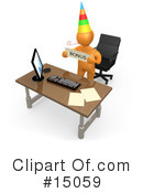 Royalty-Free (RF) Employee Clipart Illustration #15059