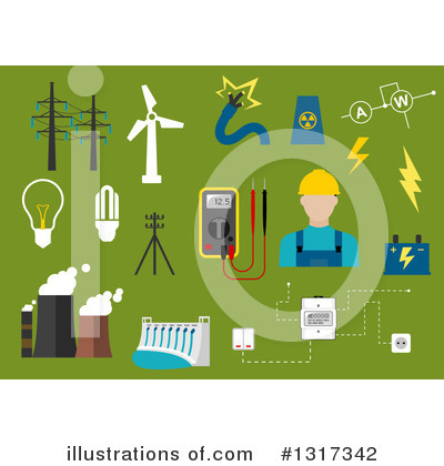 Electrician Clipart #1317342 by Vector Tradition SM