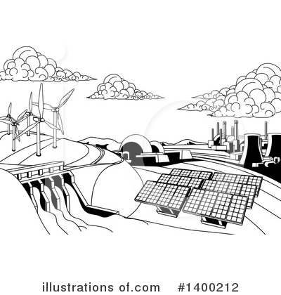 Solar Energy Clipart #1400212 by AtStockIllustration