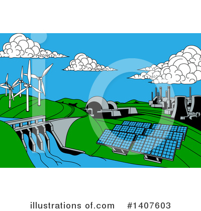 Solar Energy Clipart #1407603 by AtStockIllustration