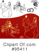 Royalty-Free (RF) Engagement Clipart Illustration #95411
