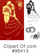 Royalty-Free (RF) Engagement Clipart Illustration #95413