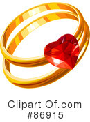 Royalty-Free (RF) Engagement Ring Clipart Illustration #86915