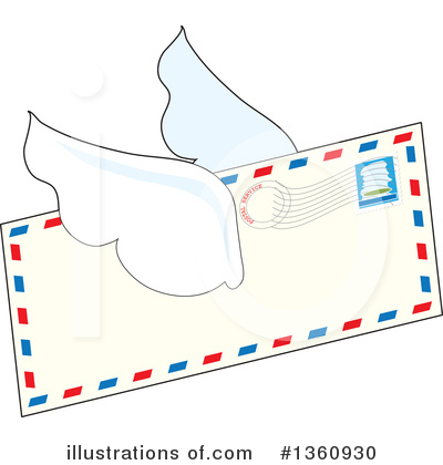 Envelope Clipart #1360930 by Maria Bell