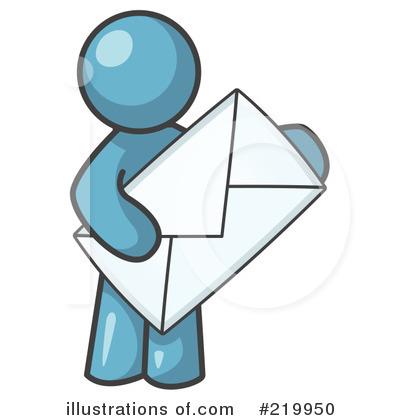 Envelope Clipart #219950 - Illustration by Leo Blanchette