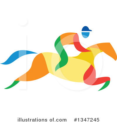 Royalty-Free (RF) Equestrian Clipart Illustration by patrimonio - Stock Sample #1347245