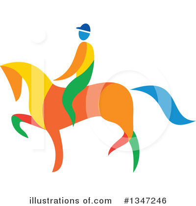 Jockey Clipart #1347246 by patrimonio