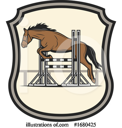 Royalty-Free (RF) Equestrian Clipart Illustration by Vector Tradition SM - Stock Sample #1680425