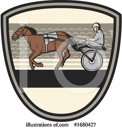 Royalty-Free (RF) Equestrian Clipart Illustration by Vector Tradition SM - Stock Sample #1680427