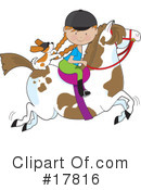 Royalty-Free (RF) Equestrian Clipart Illustration #17816