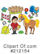 Royalty-Free (RF) Equestrian Clipart Illustration #212154