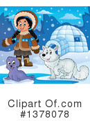 Royalty-Free (RF) Eskimo Clipart Illustration #1378078