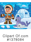 Royalty-Free (RF) Eskimo Clipart Illustration #1378084