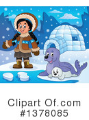 Royalty-Free (RF) Eskimo Clipart Illustration #1378085