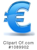 Royalty-Free (RF) Euro Symbol Clipart Illustration #1089902