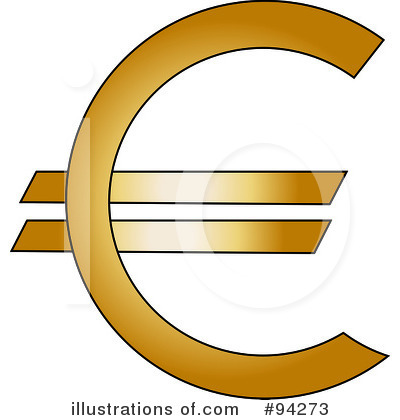 Euro Symbol Clipart #94273 - Illustration by Pams Clipart