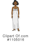 Royalty-Free (RF) Evening Gown Clipart Illustration #1105016