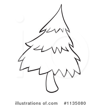 Royalty-Free (RF) Evergreen Clipart Illustration by colematt - Stock Sample #1135080