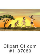 Royalty-Free (RF) Evolution Clipart Illustration #1137080
