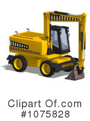 Excavator Clipart #1075828 by Ralf61