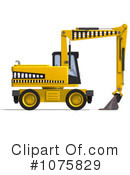 Excavator Clipart #1075829 by Ralf61