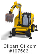 Excavator Clipart #1075831 by Ralf61
