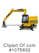 Excavator Clipart #1075832 by Ralf61