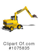 Excavator Clipart #1075835 by Ralf61