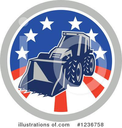 Royalty-Free (RF) Excavator Clipart Illustration by patrimonio - Stock Sample #1236758