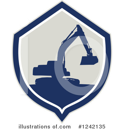 Royalty-Free (RF) Excavator Clipart Illustration by patrimonio - Stock Sample #1242135