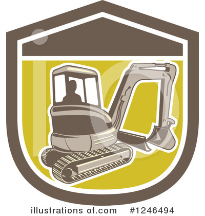 Bulldozer Clipart #1246494 by patrimonio