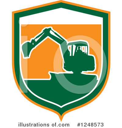 Royalty-Free (RF) Excavator Clipart Illustration by patrimonio - Stock Sample #1248573